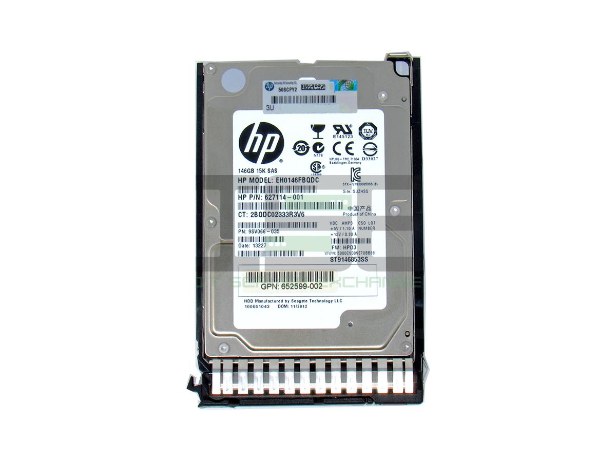 HP 518216-002 EH0146FARWD 146GB 15K 6G SC SAS Hard Drive 653950-001